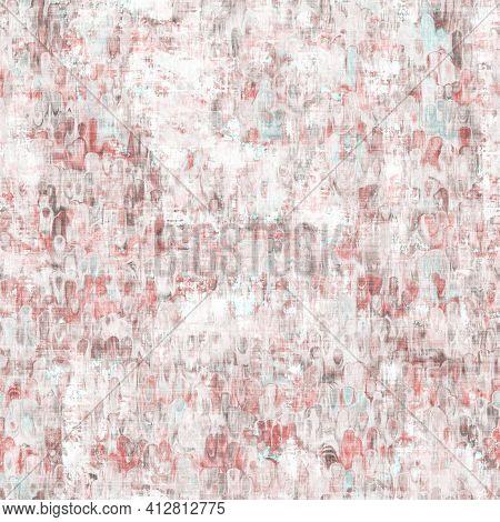 Neutral Tone Stucco Peeling Wall Texture Background. Worn Weathered Irregular Distressed Seamless Pa