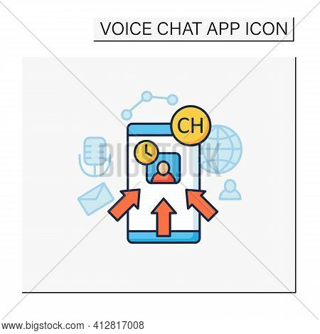 Rapid Popularity Color Icon. Rapid Growth User Popularity.arrows Point To Moderator. Communication C