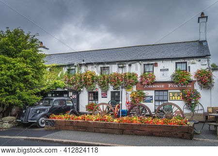 Dublin, Ireland, August 2019 Johnnie Foxs Pub And Restaurant Established In 1798 Is One Of The Oldes