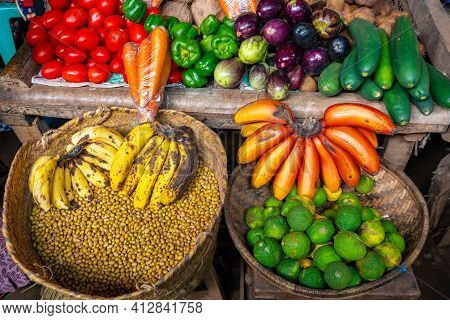 Fruits And Goods At Native Market In Mto Wa Mbu Near The Ngorongoro Concervation Area