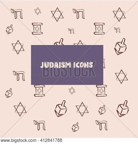Rosh Hashana Draw Judaism Wallpaper Image Icon - Vector