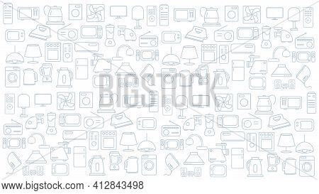 Household Appliances Icon Background. Home Appliances Vector Icon Background.