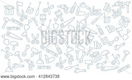 Tools Icon Background. Repair Tools Vector Icon Background.