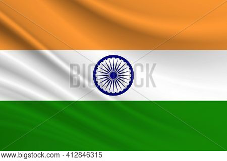 Flag Of India Fabric Texture Of The Flag Of India.