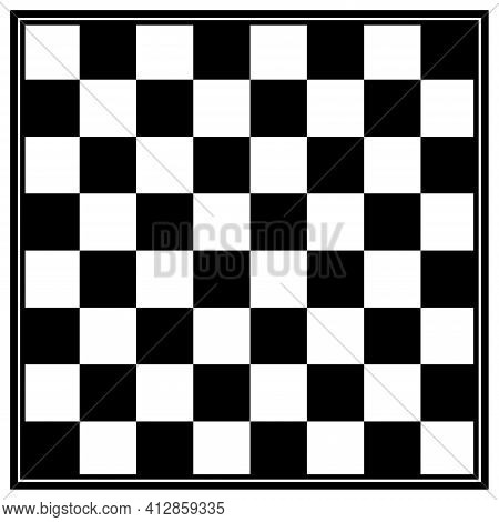 Chess Board Game Vector Illustration. Chess Symbol.