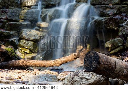 A Little Trip Into Nature With A Small Waterfall In Rautal Thuringia