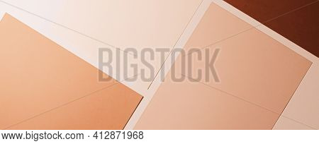 Beige And Brown A4 Papers As Office Stationery Flatlay, Luxury Branding Flat Lay And Brand Identity