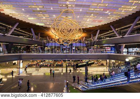 Doha, Qatar - 05 September 2018: Hamad International Airport Opened In 2014 As The New International