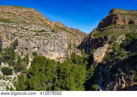 Canyon De Almadenes In The Murcia Region Of Spain. In The Upper Course Of The Segura River, Near The