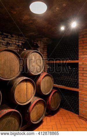 Old wine cellar in Volkany near Villany, Hungary