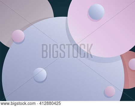 Abstract Gradient Background With Round Shapes.for Use As A Web Page Or Sites Backdrop, Screensavers