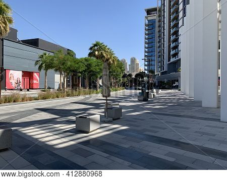 Dubai - Uae - December 11, 2020: Beautiful Bluewaters Island Tourist District. Luxury District With
