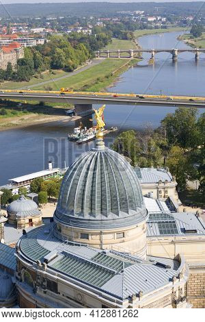 Dresden, Germany - September 23, 2020 : Aerial View Of Dresden Academy Of Fine Arts Situated On The