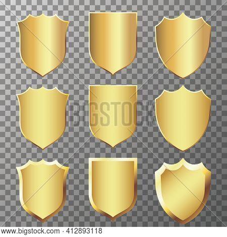 Golden Badges And Labels Collection.elegant Golden Design Elements. Vector Illustration Eps10