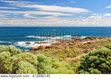 Cape Leeuwin, The Most South-westerly Point Of Australia, Is Where The Powerful Indian And Southern