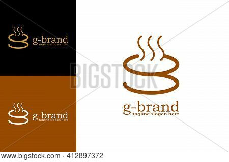 Warm Food Or Drink Logo. With The Design Concept Of A Cup Or Bowl In The Shape Of The Letter G. Suit