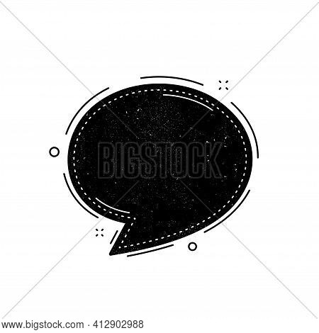 Speech Bubble Icon. Chat Message Sign. Vector
