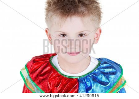 Close-up humeral portrait of little boy in carnival costume