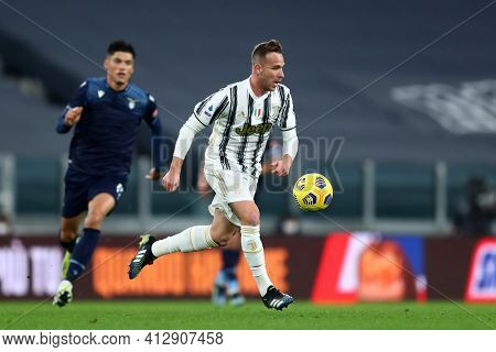 Torino, 06th March 2021. Arthur Of Juventus Fc  During The Serie A Match Between Juventus Fc And Ss