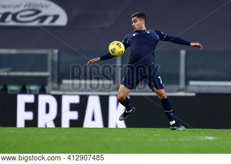 Torino, 06th March 2021. Mohamed Fares Of Ss Lazio  During The Serie A Match Between Juventus Fc And