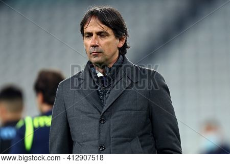 Torino, 06th March 2021. Simone Inzaghi Of Ss Lazio  During The Serie A Match Between Juventus Fc An