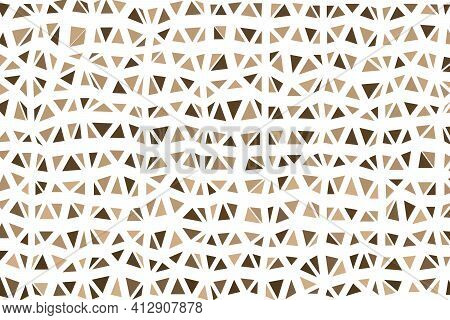 Polygonal Beige Mosaic Background. Abstract Low Poly Vector Illustration. Triangular Pattern In Half