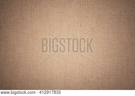 Canvas Fabric Texture. Brown Burlap Texture Background Pattern. Texture Of The Linen Fabric As Backg