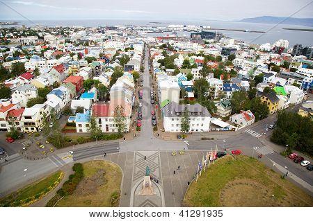 Panorama Of Reykjavik, Iceland