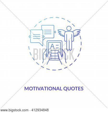Motivational Quotes Concept Icon. Life And Success Idea Thin Line Illustration. Inspiring People For