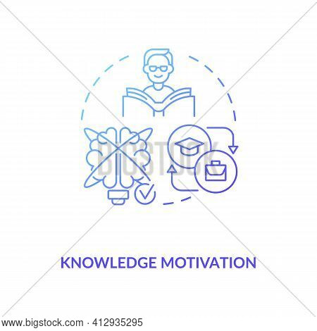 Knowledge Motivation Concept Icon. Learning New Information Idea Thin Line Illustration. Motivating