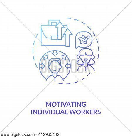Motivating Individual Workers Concept Icon. Find Motivator For Good Work Of Employees Idea Thin Line