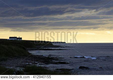 John O\'groats (scotland), Uk - August 04, 2018: View From John O\'groats Area, Caithness, Scotland,