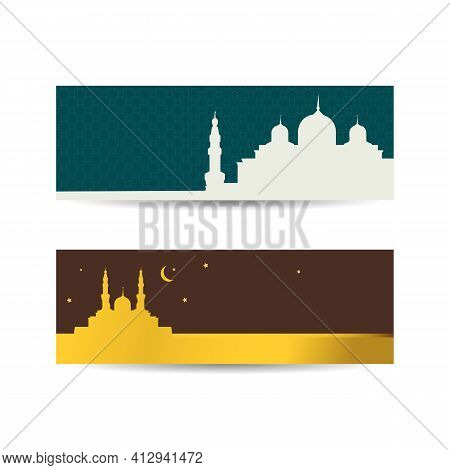 Abstract Ramadan Kareem Religious Background. Modern Horizontal Banner, Ramadan Kareem Cover, Ramada