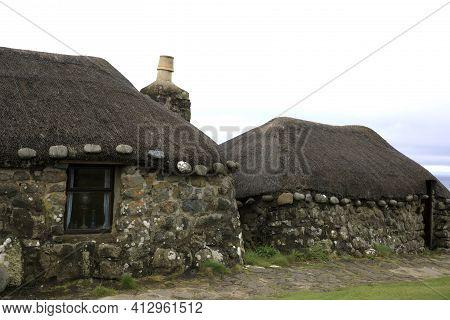 Skye Island (scotland), Uk - August 14, 2018: Skye Museum Of Island Life, Isle Of Skye, Inner Hebrid