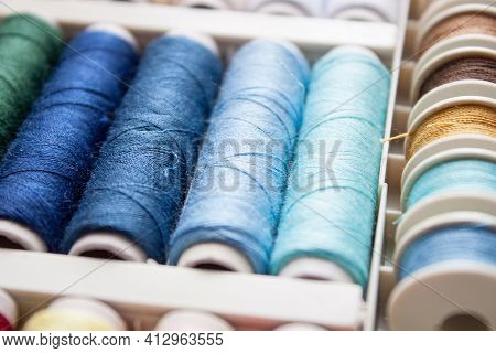Colorful Yarn On Spool, Yarn On Tube, Cotton, Wool, Linen Thread.