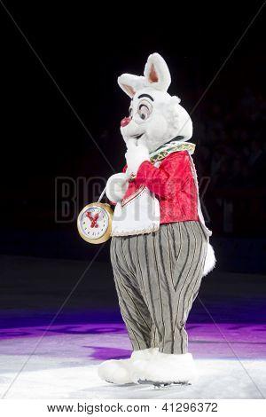 White Rabbit With Clock