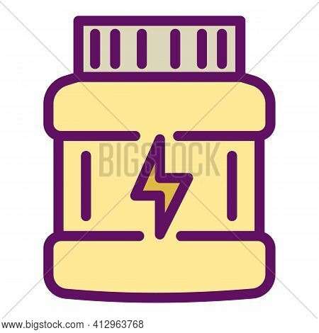 Sport Nutrition Energy Jar Icon. Outline Sport Nutrition Energy Jar Vector Icon For Web Design Isola