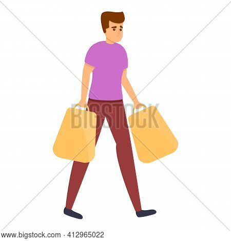 Weekend Shopping Icon. Cartoon Of Weekend Shopping Vector Icon For Web Design Isolated On White Back