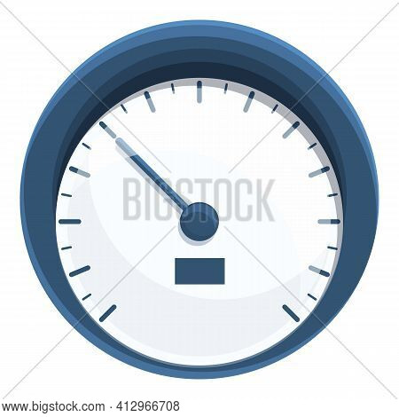 Car White Speedometer Icon. Cartoon Of Car White Speedometer Vector Icon For Web Design Isolated On
