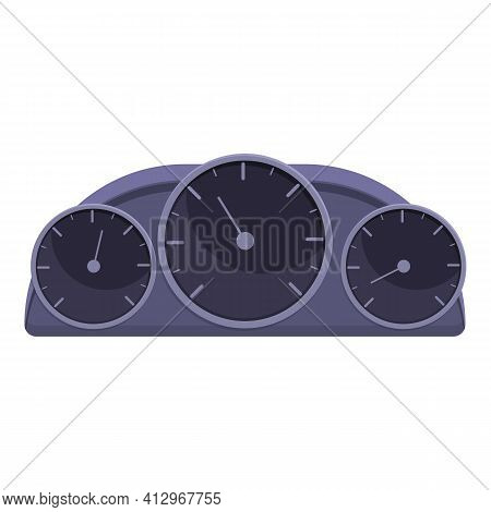 Car Sport Dashboard Icon. Cartoon Of Car Sport Dashboard Vector Icon For Web Design Isolated On Whit