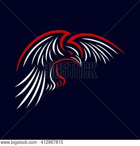 Modern Bird Crow As An Example Of A Logo. Vector Illustration.