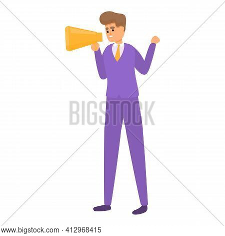Marketing Interaction Icon. Cartoon Of Marketing Interaction Vector Icon For Web Design Isolated On