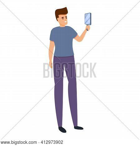 Building Self Confidence Icon. Cartoon Of Building Self Confidence Vector Icon For Web Design Isolat