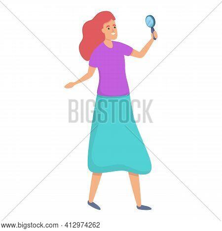 Personality Self Esteem Icon. Cartoon Of Personality Self Esteem Vector Icon For Web Design Isolated
