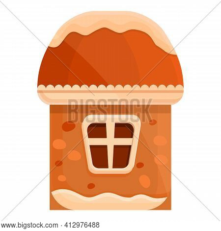 Icing Gingerbread Icon. Cartoon Of Icing Gingerbread Vector Icon For Web Design Isolated On White Ba