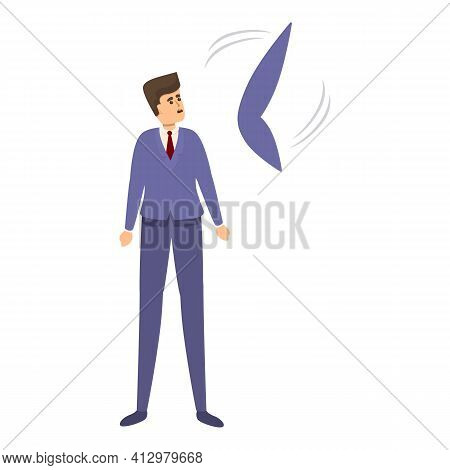 Manager Time Management Icon. Cartoon Of Manager Time Management Vector Icon For Web Design Isolated