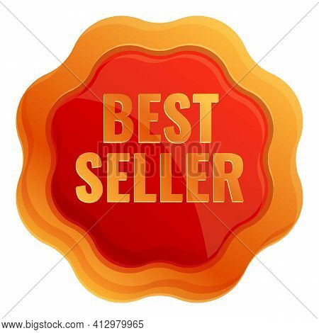 Best Seller Badge Icon. Cartoon Of Best Seller Badge Vector Icon For Web Design Isolated On White Ba