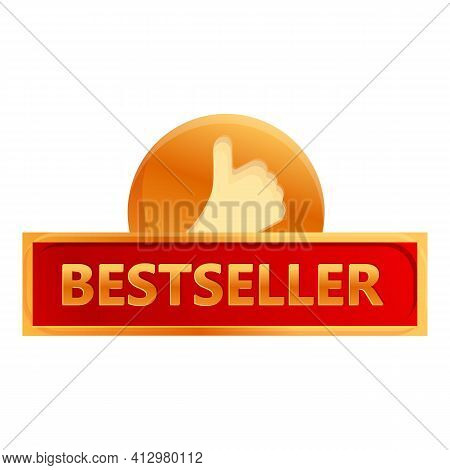 Best Seller Thumb Up Icon. Cartoon Of Best Seller Thumb Up Vector Icon For Web Design Isolated On Wh