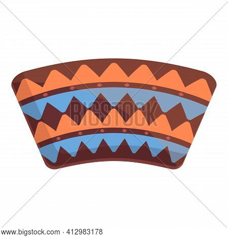 Aztec Knitting Icon. Cartoon Of Aztec Knitting Vector Icon For Web Design Isolated On White Backgrou