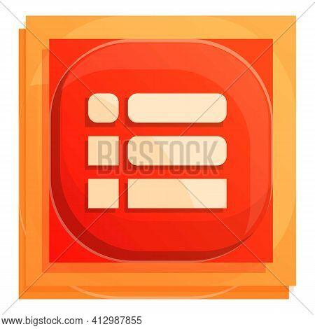 Writing Interface Button Icon. Cartoon Of Writing Interface Button Vector Icon For Web Design Isolat